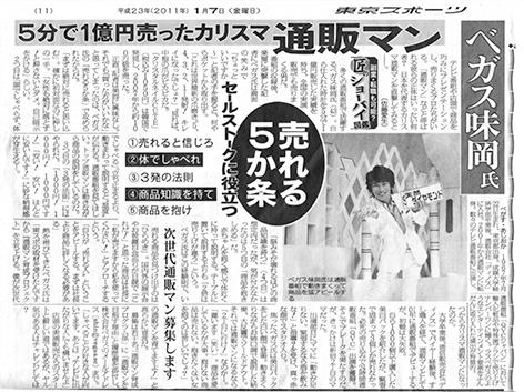 東京スポーツ新聞